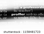 Small photo of proffer word in a dictionary. proffer concept.