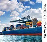 cargo sea port. sea cargo...   Shutterstock . vector #115848196