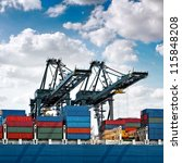 cargo sea port. sea cargo... | Shutterstock . vector #115848208