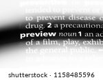 preview word in a dictionary.... | Shutterstock . vector #1158485596