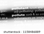 pollute word in a dictionary.... | Shutterstock . vector #1158486889