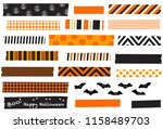 halloween washi tape vector... | Shutterstock .eps vector #1158489703