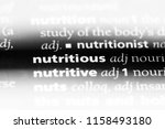 nutritious word in a dictionary.... | Shutterstock . vector #1158493180