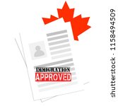 successful immigration canadian ... | Shutterstock .eps vector #1158494509