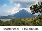 the arenal volcano in costa rica | Shutterstock . vector #1158500086