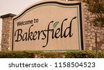 Bakersfield, California, USA. August 8, 2018. City of Bakersfield Sign in central California