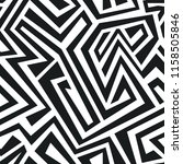 zig zag monochrome | Shutterstock . vector #1158505846