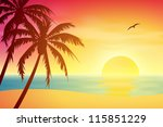 A Tropical Sunset  Sunrise Wit...