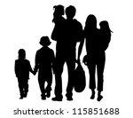 family silhouettes | Shutterstock .eps vector #115851688