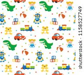 cute seamless pattern colorful... | Shutterstock .eps vector #1158527749