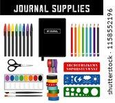 journal supplies  decorative...   Shutterstock .eps vector #1158552196