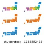 map of japan  regional division ... | Shutterstock .eps vector #1158552433