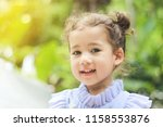 close up of a cute girl smile... | Shutterstock . vector #1158553876
