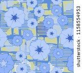 seamless floral pattern... | Shutterstock .eps vector #1158554953