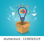 creative idea concept. think... | Shutterstock .eps vector #1158563119