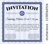 blue invitation template.... | Shutterstock .eps vector #1158566926