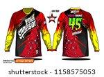 long sleeve motocross jerseys t ... | Shutterstock .eps vector #1158575053