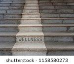 wellness concept using stairs... | Shutterstock . vector #1158580273