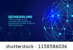 digital earth  dot line... | Shutterstock .eps vector #1158586036