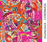 seamless background pattern.... | Shutterstock .eps vector #1158586426