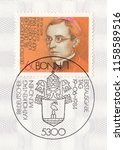 germany circa 1984 a stamp... | Shutterstock . vector #1158589516