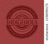 indigenous vintage red emblem | Shutterstock .eps vector #1158590173
