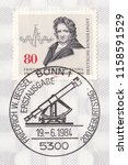 germany circa 1984 a stamp... | Shutterstock . vector #1158591529