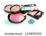 Постер, плакат: bright eye shadows and