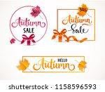 autumn sale template design.... | Shutterstock .eps vector #1158596593