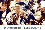 art graphic and watercolor... | Shutterstock . vector #1158605746