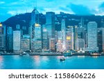 aug 17  2018   victoria harbor  ... | Shutterstock . vector #1158606226