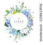 round botanical vector design... | Shutterstock .eps vector #1158613936