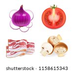 food flavors for snacks  onion  ... | Shutterstock .eps vector #1158615343