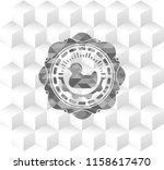 rubber duck icon inside grey... | Shutterstock .eps vector #1158617470