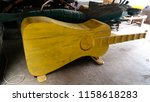 funny traditional coffin in the ...   Shutterstock . vector #1158618283