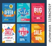 collection of sale and discount ... | Shutterstock .eps vector #1158624019
