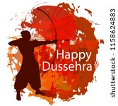happy dussehra celebration card ... | Shutterstock .eps vector #1158624883