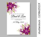 poinsettia wedding invitation... | Shutterstock .eps vector #1158625219