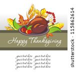 thanksgiving celebration banner | Shutterstock .eps vector #115862614
