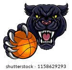 a black panther angry animal... | Shutterstock .eps vector #1158629293