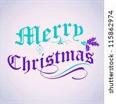 christmas winter background | Shutterstock . vector #115862974