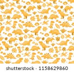 seamless pattern with ginger... | Shutterstock .eps vector #1158629860