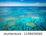 great barrier reef from air | Shutterstock . vector #1158634060