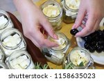 marinating feta cheese with... | Shutterstock . vector #1158635023