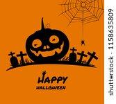halloween pumpkin vector    Shutterstock .eps vector #1158635809