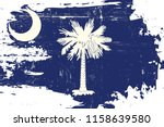 south carolina flag with a... | Shutterstock .eps vector #1158639580