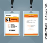office id card design template   Shutterstock .eps vector #1158639736