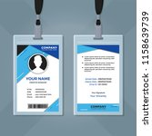 employee id card design template | Shutterstock .eps vector #1158639739