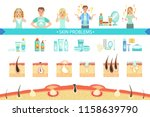 skin problems infographic... | Shutterstock .eps vector #1158639790