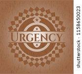 urgency realistic wooden emblem | Shutterstock .eps vector #1158650023